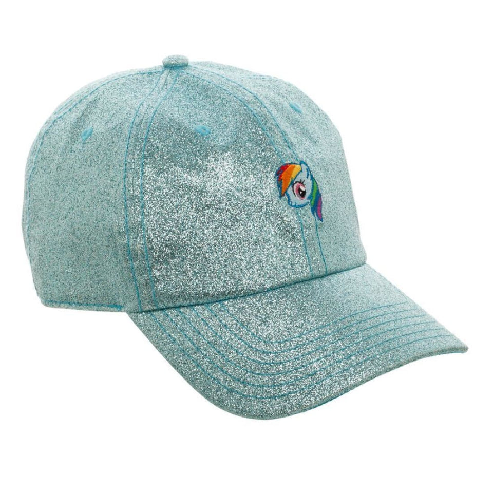 Blue Glitter Hat w/ My Little Pony Rainbow Dash - Superhero Supervillain - United States - Superherosupervillain.com