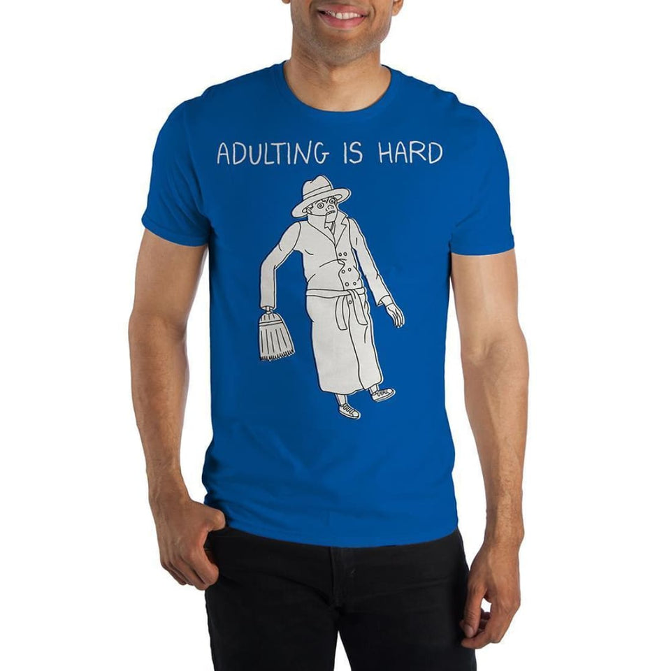 BoJack Horseman Vincent Adultman Adulting Is Hard Specialty Soft Hand Print Shirt - Superhero Supervillain - United States - Superherosupervillain.com