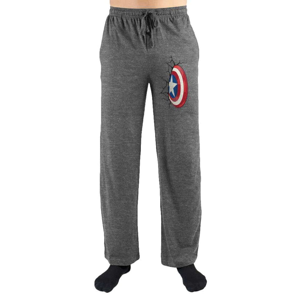 Captain America Shield Smash Print Loungewear Lounge Pants - Superhero Supervillain - United States - Superherosupervillain.com