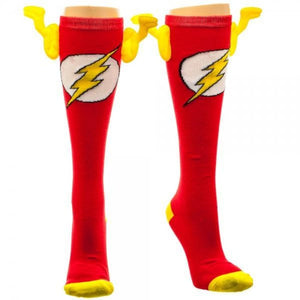 DC Comics Flash Juniors Knee High Socks with Wings - Superhero Supervillain - United States - superherosupervillain.com