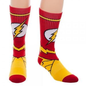 DC Comics Flash Suit Up Crew Socks - Superhero Supervillain - United States - Superherosupervillain.com