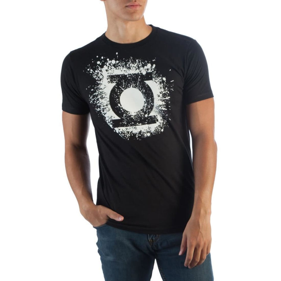 DC Comics Green Lantern Logo On Black T-Shirt - Superhero Supervillain - United States - superherosupervillain.com