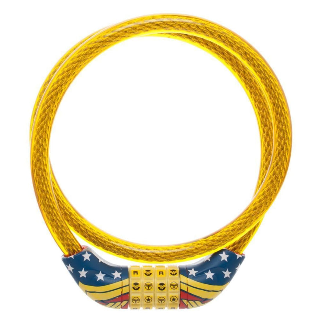 DC Comics Wonder Woman Bike Bicycle Cable Lock - Superhero Supervillain - United States - Superherosupervillain.com