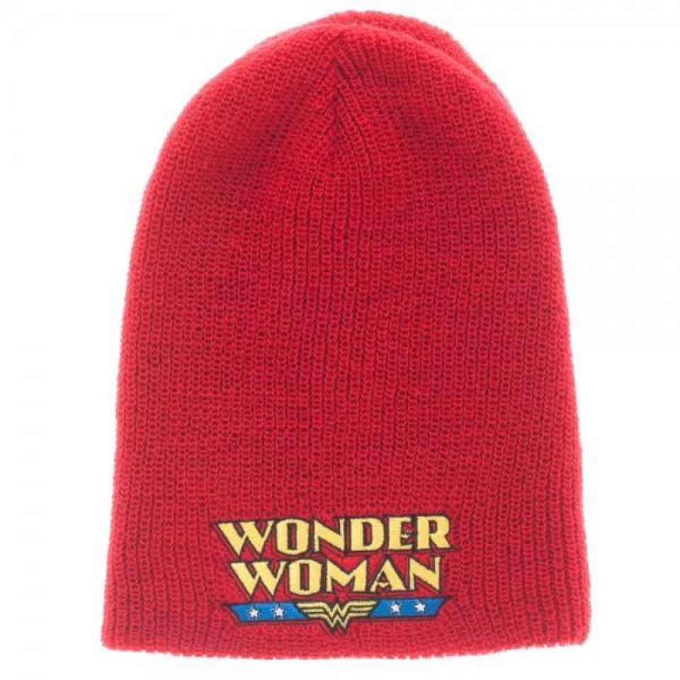 DC Comics Wonder Woman Reversible Slouch Beanie - Superhero Supervillain - United States - Superherosupervillain.com