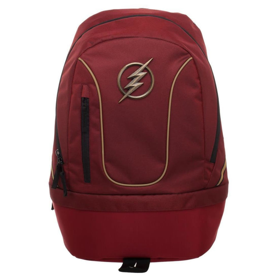 DC Flash Backpack with Bottom Compartment - Superhero Supervillain - United States - Superherosupervillain.com