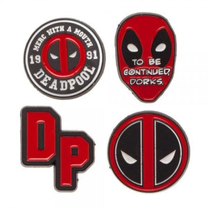 Deadpool Lapel 4 Piece Pin Set - Superhero Supervillain - United States - Superherosupervillain.com