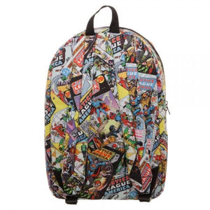 Justice League All Over Print QT Backpack - Superhero Supervillain