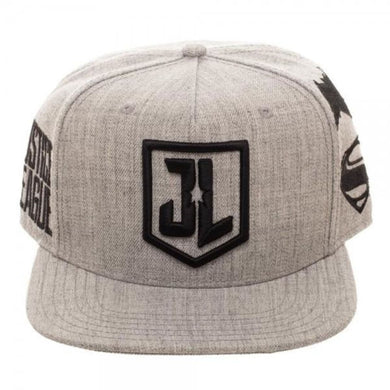 Justice League Embroidered Acrylic Wool Snapback - Superhero Supervillain