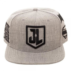 Justice League Embroidered Acrylic Wool Snapback - Superhero Supervillain - United States - superherosupervillain.com