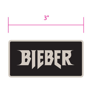 Justin Bieber Black Grey Patch - Superhero Supervillain - United States - Superherosupervillain.com