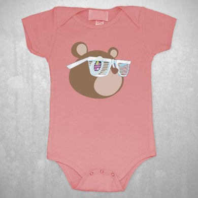 Kanye West Bear Infant Pink Onesie - Superhero Supervillain