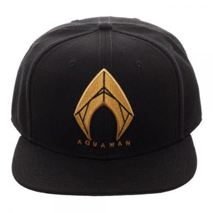 Aquaman Icon Embroidered Snapback - Superhero Supervillain - United States - superherosupervillain.com