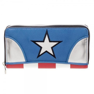 Marvel Captain America Juniors Zip Around Wallet - Superhero Supervillain - United States - superherosupervillain.com