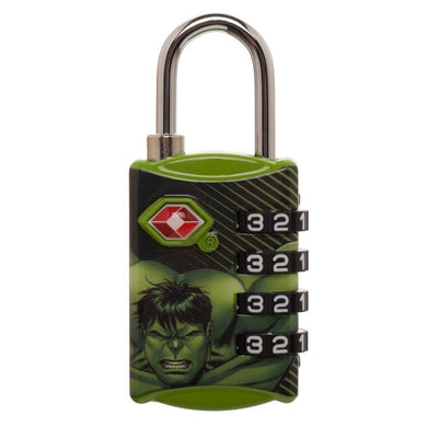 Marvel Comics Hulk Graphic Design TSA Approved Travel Combination Luggage Lock for Suitcase Baggage - Superhero Supervillain