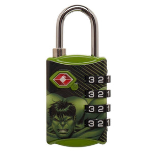 Marvel Comics Hulk Graphic Design TSA Approved Travel Combination Luggage Lock for Suitcase Baggage - Superhero Supervillain - United States - superherosupervillain.com