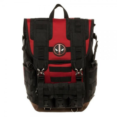 Marvel Deadpool Tactical Roll Top Backpack - Superhero Supervillain