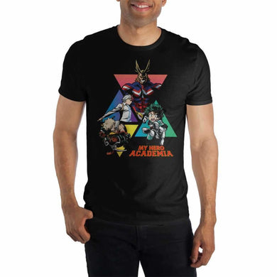 MHA My Hero Academia Graphic Black T-Shirt - Superhero Supervillain - United States - Superherosupervillain.com