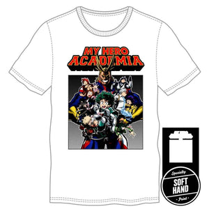 My Hero Academia White T-Shirt - Superhero Supervillain - United States - Superherosupervillain.com