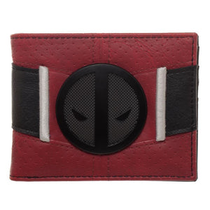 Red and Black Deadpool Uniform BiFold Wallet - Superhero Supervillain