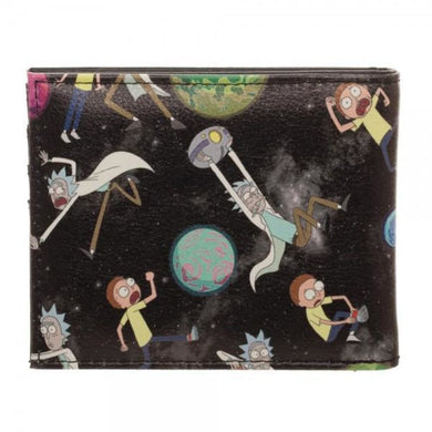 Rick and Morty Sublimation print BiFold Wallet - Superhero Supervillain