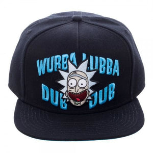Rick and Morty Wubba Black Snapback - Superhero Supervillain