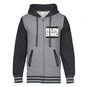 Run Dmc Logo Gun Metal Hoodie - Superhero Supervillain - United States - Superherosupervillain.com