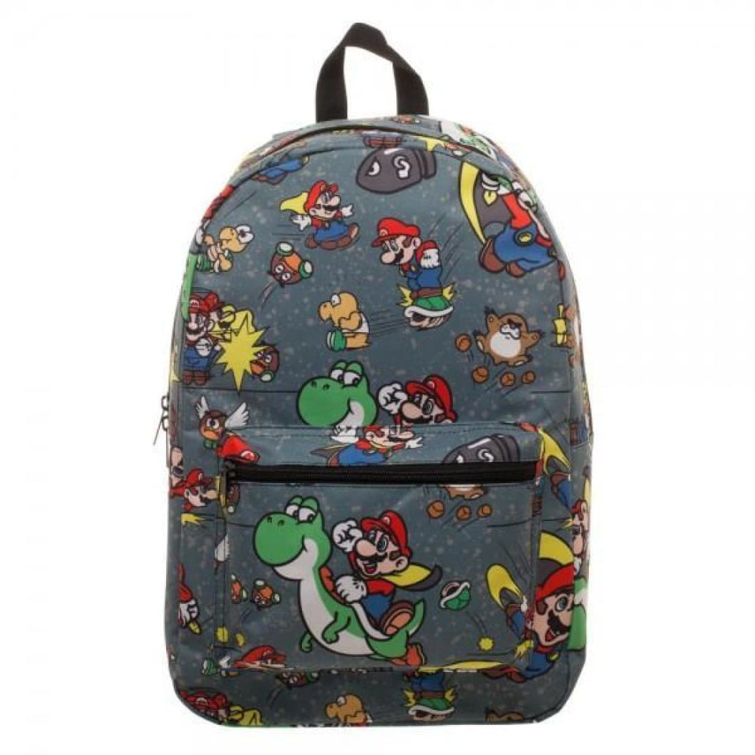 Snes Mario Sublimated Backpack - Superhero Supervillain - United States - Superherosupervillain.com