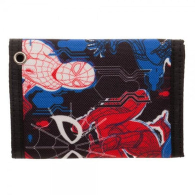 Spiderman Homecoming Tri-Fold Velcro Wallet - Superhero Supervillain - United States - Superherosupervillain.com