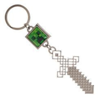 Sword And Creeper Minecraft Keychain - Superhero Supervillain - United States - Superherosupervillain.com
