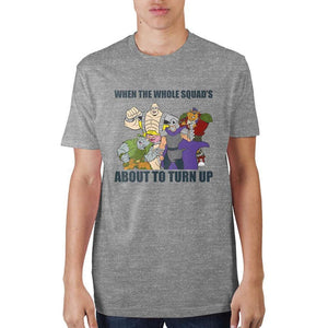 Teenage Mutant Ninja Turtles When The Whole Squad's T-Shirt - Superhero Supervillain - United States - Superherosupervillain.com