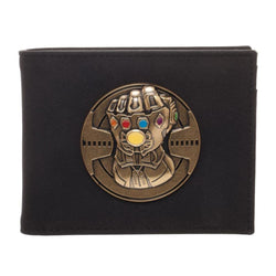 Thanos Infinity Gauntlet Bi-Fold Leather Wallet - Superhero Supervillain - United States - Superherosupervillain.com