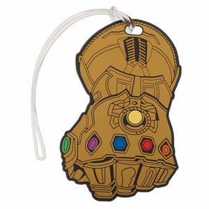 Thanos Infinity Gauntlet Rubber Luggage Tag - Superhero Supervillain - United States - superherosupervillain.com