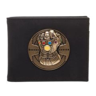 Thanos Infinity War Iron Gauntlet metal badge Wallet - Superhero Supervillain - United States - superherosupervillain.com