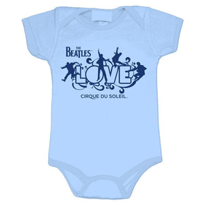 The Beatles Love Logo Infant Blue Onesie - Superhero Supervillain