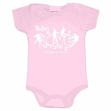 The Beatles Love Logo Infant Pink Onesie - Superhero Supervillain - United States - superherosupervillain.com