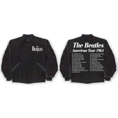 The Beatles Us 1964 Black Varsity Jacket - Superhero Supervillain - United States - Superherosupervillain.com