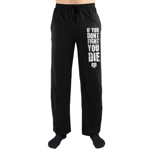The Walking Dead If You Don't Fight You Die Print Loungewear Pajama Lounge Pants - Superhero Supervillain - United States - Superherosupervillain.com