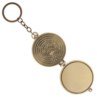 Westworld Logo Metal Keychain Locket Set with a Magnetic Closure - Superhero Supervillain