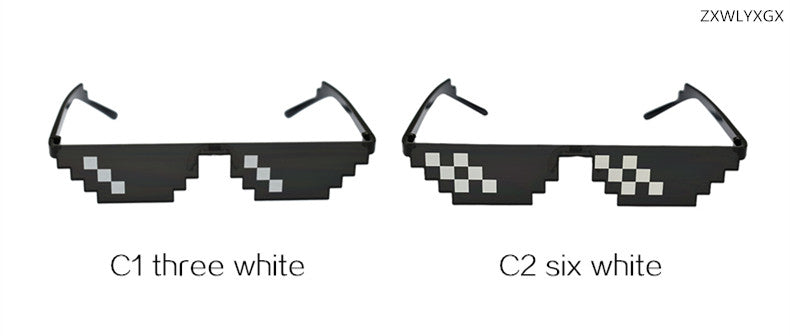 "8bit Mosaic Pixelated Sunglasses ""THUG LIFE"""