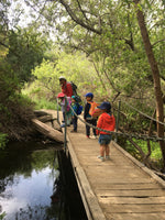 Outdoor preschool visiting Los Peñasquitos Canyon Preserve
