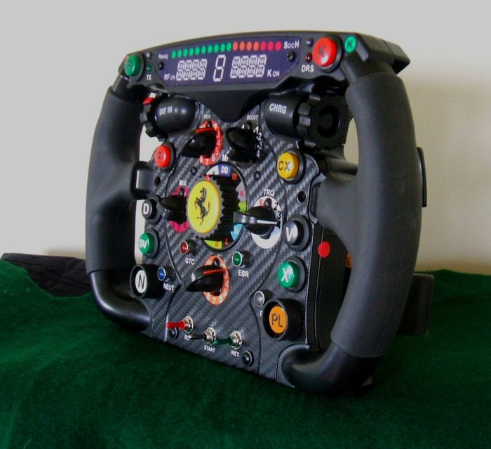 2010 Alonso / Massa Ferrari steering wheel replica - Formula 1 Memorabilia