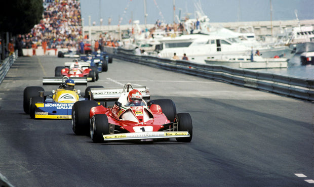 Niki Lauda during the Monaco GP by Alan Kinsey