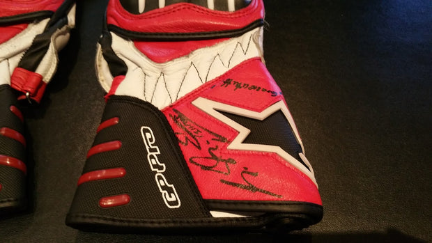 Michael Schumacher motorcycle gloves - Formula 1 Memorabilia