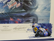 Double Take by Nicholas Watts. Signed in Pencil by Freddie Spencer - Formula 1 Memorabilia