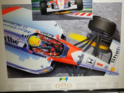 "Ayrton Senna ""Magic"" lithograph from Thierry Thompson original painting - Formula 1 Memorabilia"