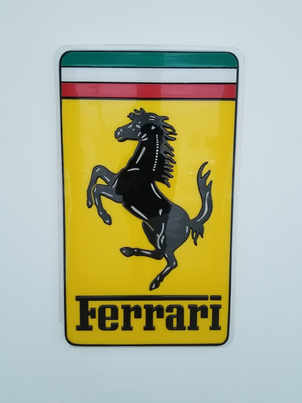 2000's Official Ferrari dealer sign - Formula 1 Memorabilia