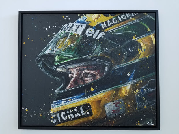 Designed To Win – Ayrton Senna (canvas) by Paul Oz - Formula 1 Memorabilia