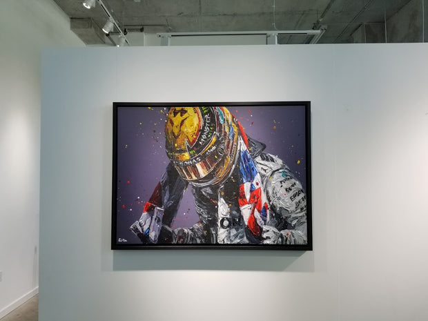 ORIGINAL 2018 Union Lewis Hamilton - Paul Oz Art - Formula 1 Memorabilia
