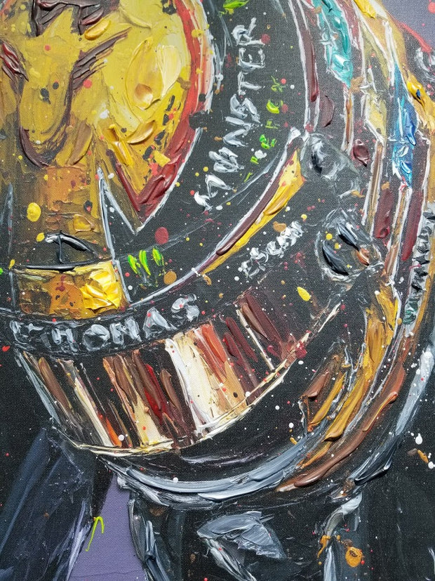 ORIGINAL 2018 Union Lewis Hamilton - Paul Oz Art