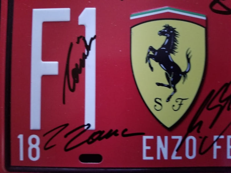 F1 1929 Vintage Metal Car Decorative License Plate signed - SOLD - - Formula 1 Memorabilia